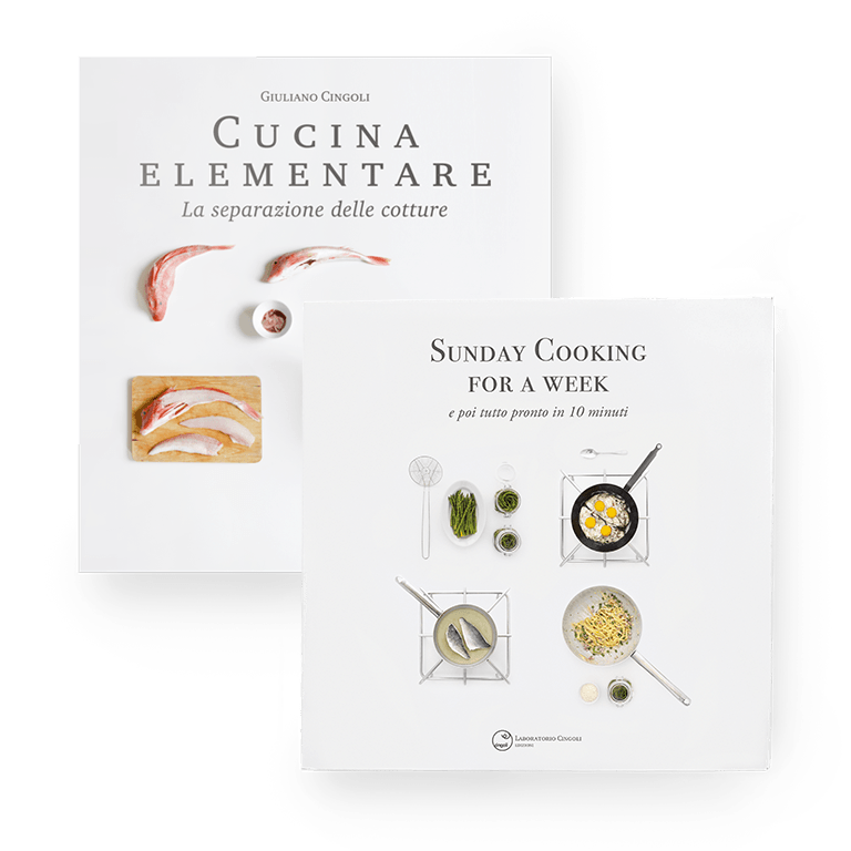 "Libri Giuliano Cingoli ""Cucina elementare"" e ""Sunday Cooking for a week"""