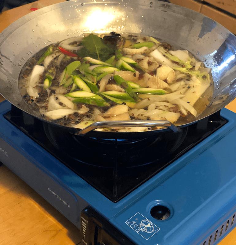 fonduta cinese wok