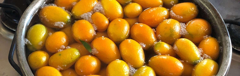 Confettura di arancini cinesi kumquat